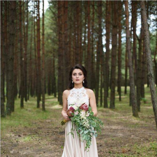 невеста в платье маргарет от салона жемчуг