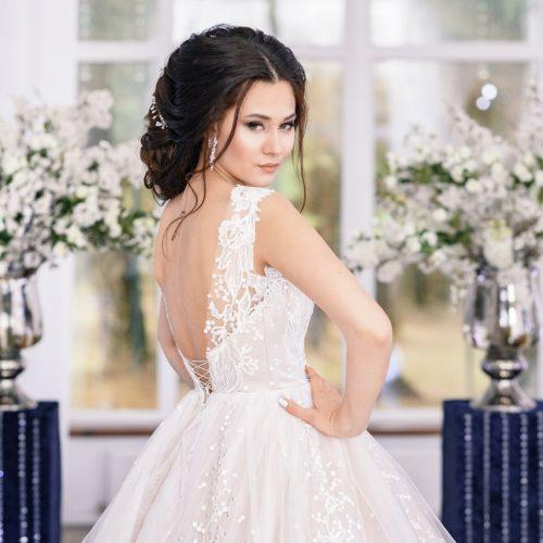 свадебное платье от жемчуга
