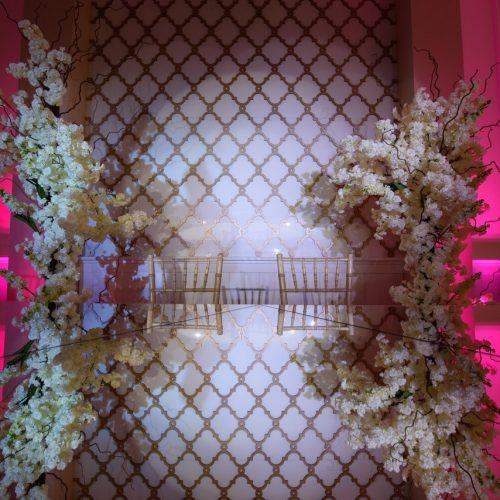 свадебный декор, оформление зала