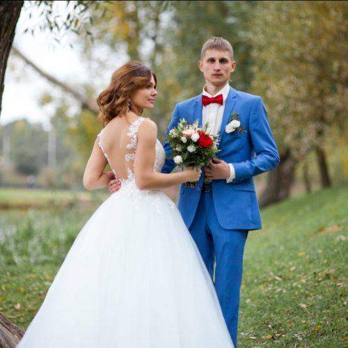 жених и невеста на фотосессии